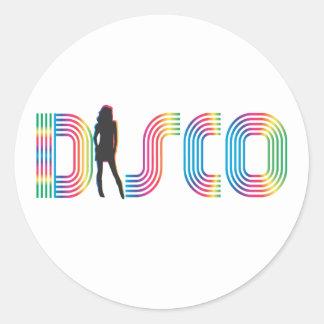 Disco Round Sticker