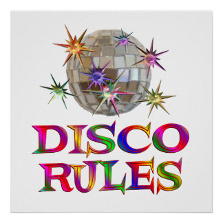 Disco Rules Posters