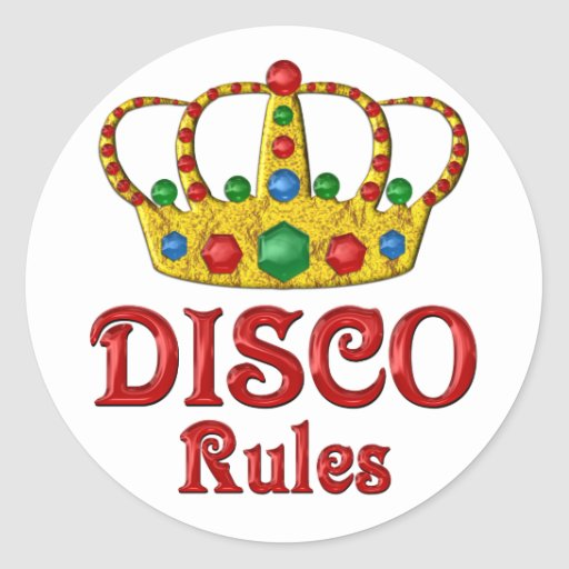 Disco Rules Stickers