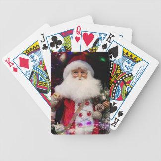 Disco Santa Bicycle Playing Cards