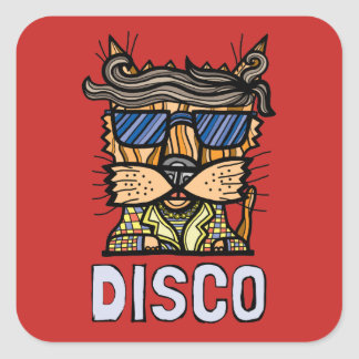 """Disco"" Square Sticker (Sheet of 6)"
