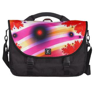 Disco Swirls Fractal Waves Laptop Bag