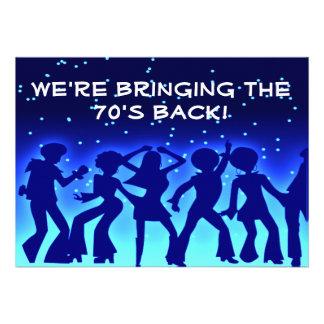 Disco Theme 70 s Party Invitations