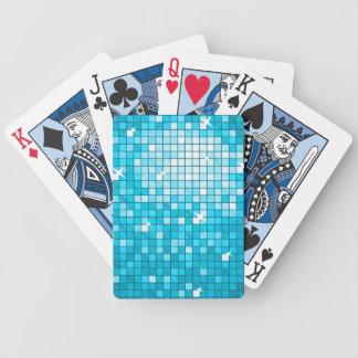 Disco Tiles Blue Poker Deck