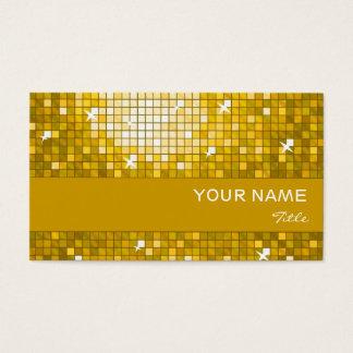 "Disco Tiles ""Gold"" business card gold stripe"