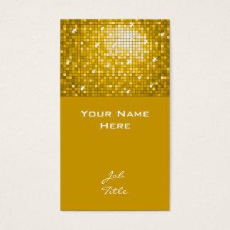 "Disco Tiles ""Gold"" business card top"