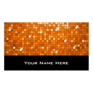Disco Tiles Orange business card black