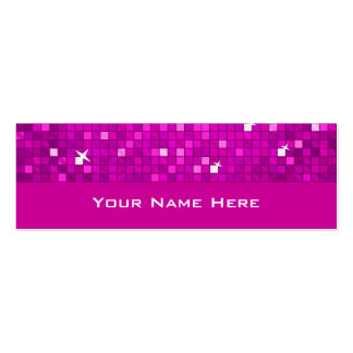 Disco Tiles Pink business card skinny