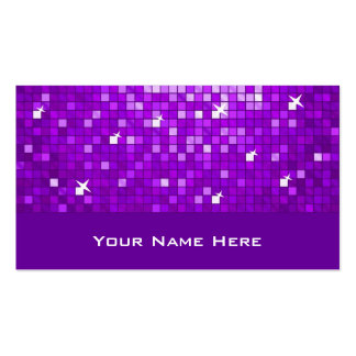 Disco Tiles Purple business card