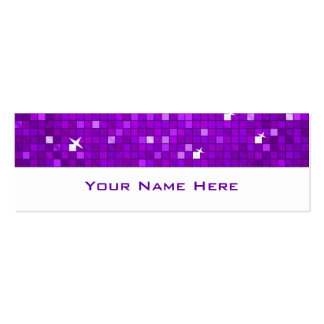 Disco Tiles Purple business card skinny white