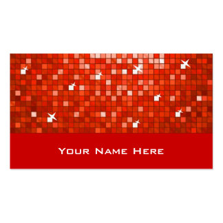 Disco Tiles Red business card