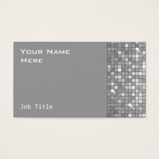 "Disco Tiles ""Silver"" business card side"