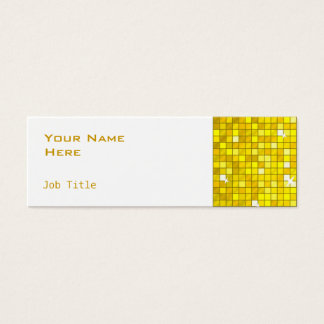 Disco Tiles Yellow business card side skinny white