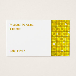 Disco Tiles yellow business card side white
