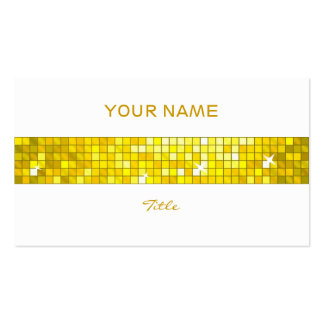 Disco Tiles Yellow tile stripe white back Pack Of Standard Business Cards