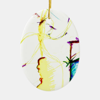 Disco W \ A Crazy Ceramic Ornament