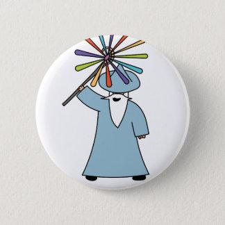 Disco Wizard t-shirt. 6 Cm Round Badge
