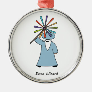 Disco Wizard t-shirt. Metal Ornament