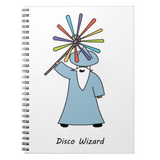 Disco Wizard t-shirt. Notebook
