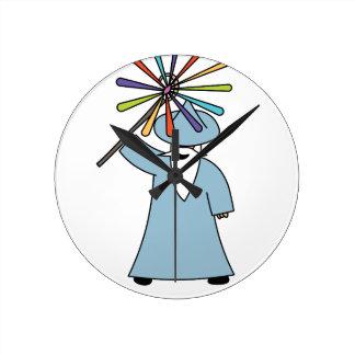 Disco Wizard t-shirt. Round Clock