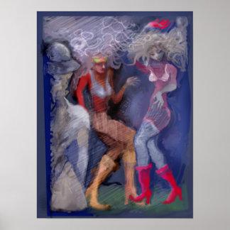 Disco women poster