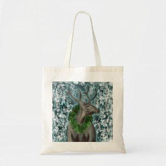 Disco Wreath Reindeer Tote Bag