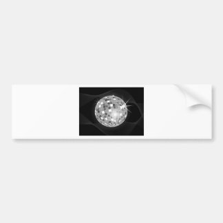 Discoball on black background design bumper sticker
