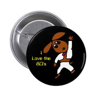discodox, I Love the80's Pins