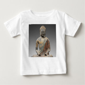 Discolored Buddha Sculpture - Tang dynasty (618) Baby T-Shirt