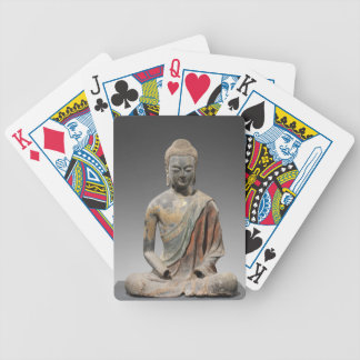 Discolored Buddha Sculpture - Tang dynasty (618) Bicycle Playing Cards