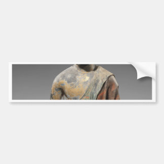 Discolored Buddha Sculpture - Tang dynasty (618) Bumper Sticker