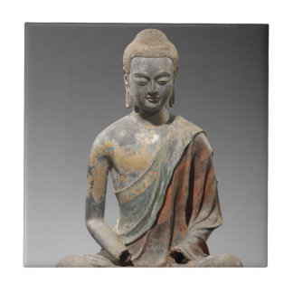 Discolored Buddha Sculpture - Tang dynasty (618) Ceramic Tile