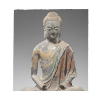 Discolored Buddha Sculpture - Tang dynasty (618) Notepad