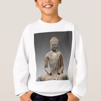 Discolored Buddha Sculpture - Tang dynasty (618) Sweatshirt