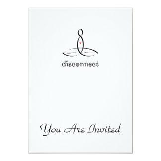 Disconnect - Black Fancy style 13 Cm X 18 Cm Invitation Card