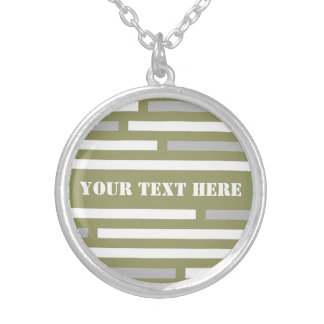 Disconnected Stripes custom necklace