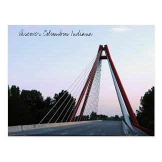 Discover Columbus Indiana Second St Bridge Postcard