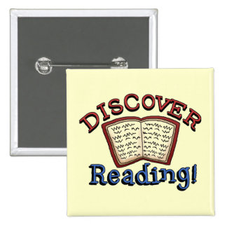 Discover Reading Tshirts and Gifts 15 Cm Square Badge