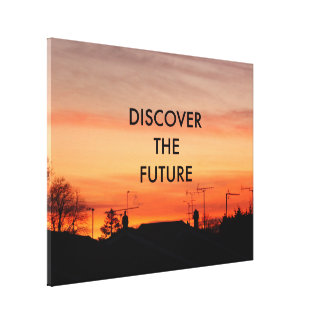 Discover the future gallery wrap canvas