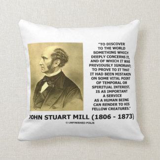 Discover To The World Service Human Beings JS Mill Cushion