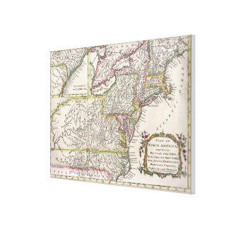 Discovering The Eastern United States Map (1759) Canvas Print