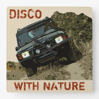 DISCOVERY - DISCO WITH NATURE SQUARE WALL CLOCK