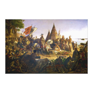 Discovery of the Mississippi by William H. Powell Canvas Print