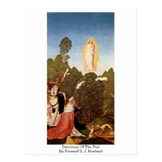 Discovery Of The Veil By Frueauf D. J. Rueland Post Card