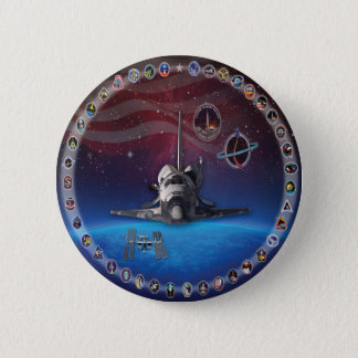 Discovery Tribute OV 103 6 Cm Round Badge