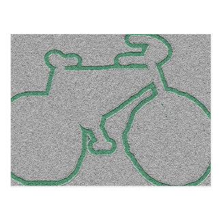 discreet green bike postcard