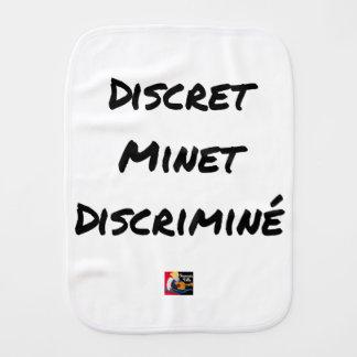 DISCRETE DISCRIMINATED PUSSY - Word games Burp Cloth