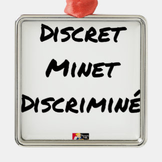 DISCRETE DISCRIMINATED PUSSY - Word games Metal Ornament