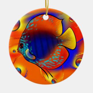 Discuremia V1 - abstract digital artwork Ceramic Ornament