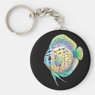 Discus Cichlid Aquarium Fish Keychain